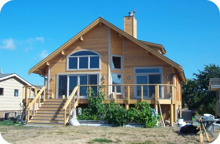 Eurologs houtbouw bouwt ceder houten woningen eurologs for Foto op hout maken eigen huis en tuin